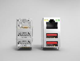 Dual USB with LAN