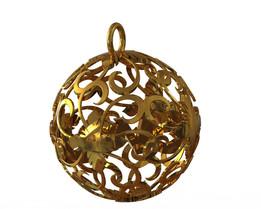 Pendant - Golden Ball