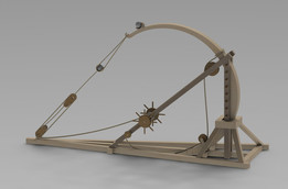 Leonardo Davinci's Catapult