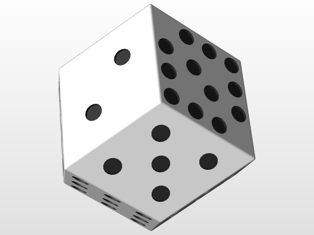 12 sided dice 3d cad model library grabcad
