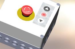 Botoeira de Emergência com caixa controladora