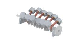 First advanced assembly model- V12 crank and piston assembly