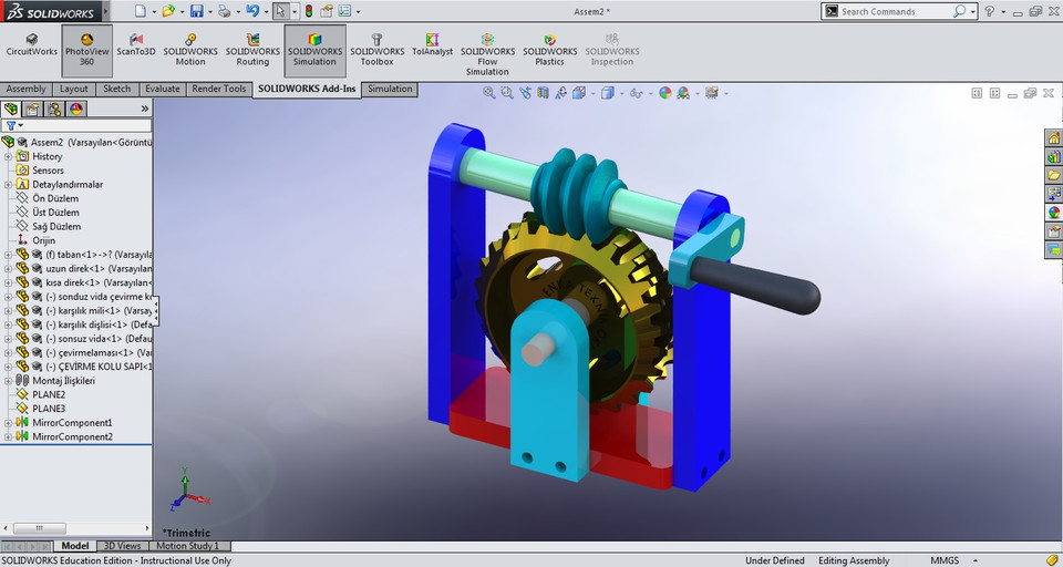 Worm Gear Solidworks Download