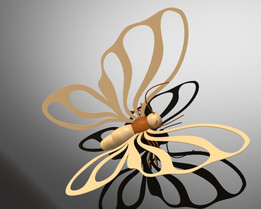 butterfly made ​​of wood