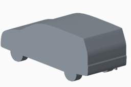 Simplified Toyota Innova model for CFD analysis