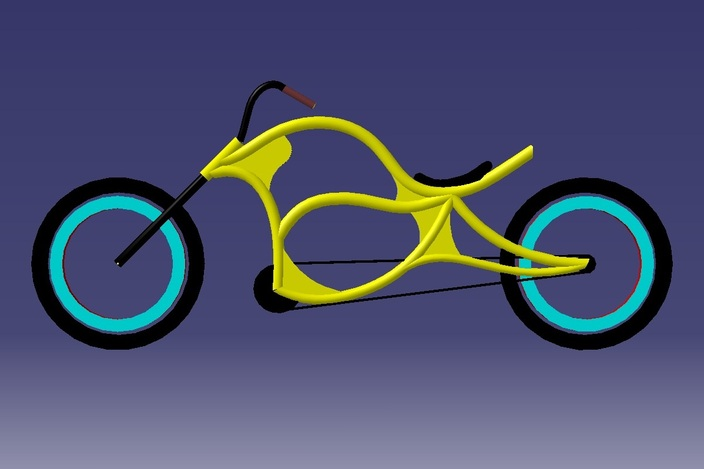 Chopper Bicycle Designs 2d Chopper Bike Design