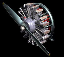 Olsryd 9-Cylinder Radial Engine
