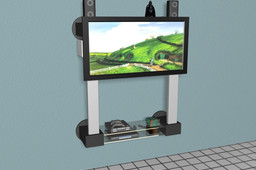 LCD stand TV for wall