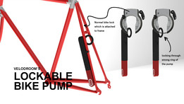 Lockable bike pump