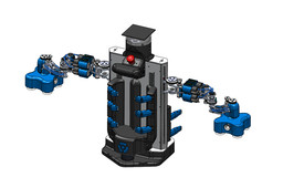 """Robot """"Debra 6"""" - Differential wheels with two 4-axis robotics arms"""