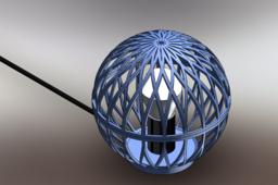 Standing desk lamp