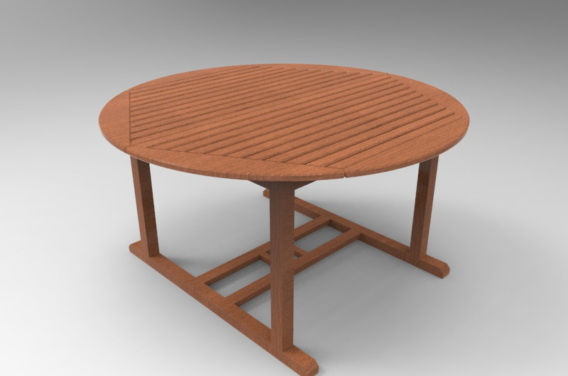Table Library De Jardin3d Grabcad Cad Model PXZTiuOk