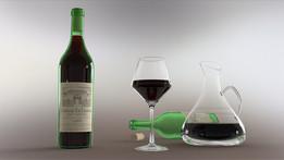 présentation ensemble de vin
