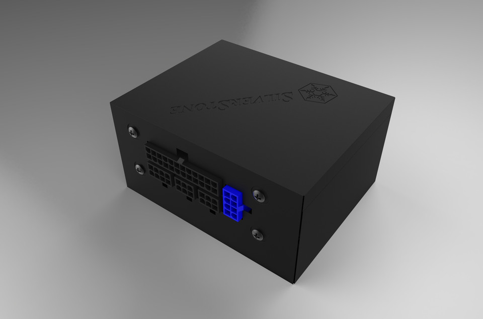 Silverstone ST45SF-G SFX 450W 80+Gold Power Supply | 3D CAD Model ...