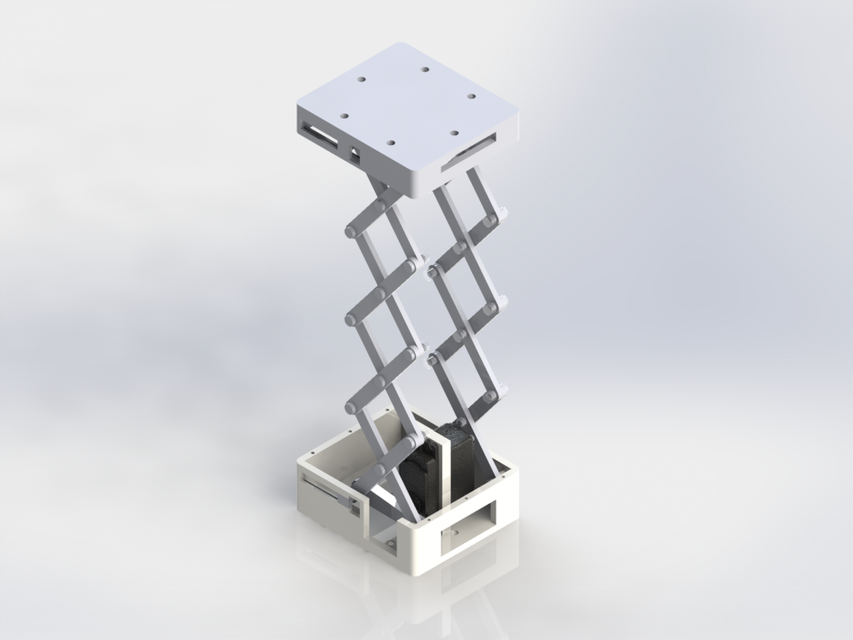 Servo-powered Scissor Lift Platform | 3D CAD Model Library | GrabCAD