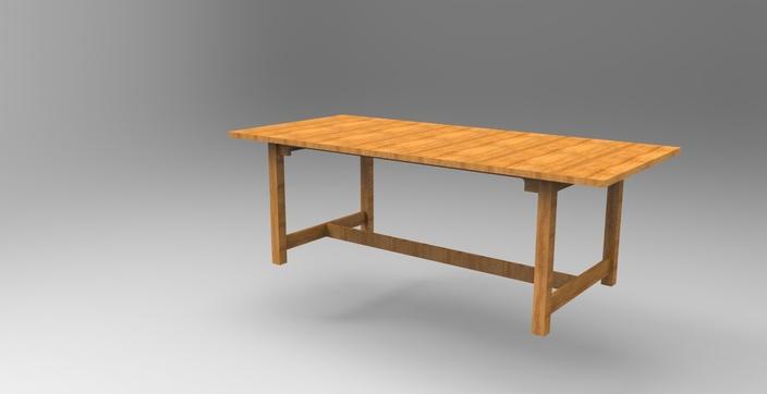 Ikea norden table 220 266x100cm stl solidworks 3d cad model grabcad - Table ikea norden ...