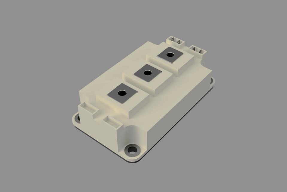 Semikron IGBT module SKM SEMITRANS 3 | 3D CAD Model