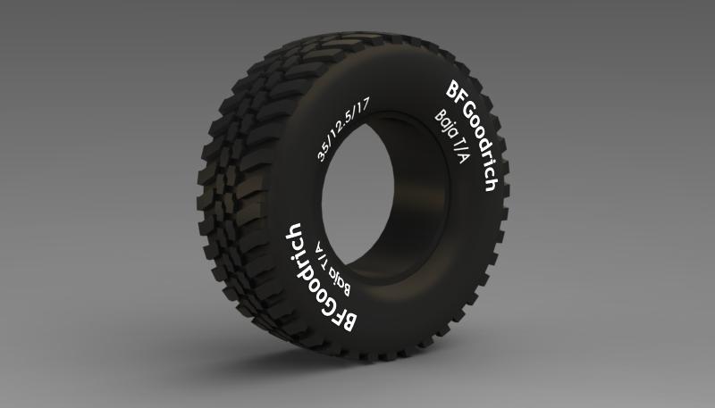 35 12 5 R17 >> 37 12 5r17 Baja Ta Tire 3d Cad Model Library Grabcad
