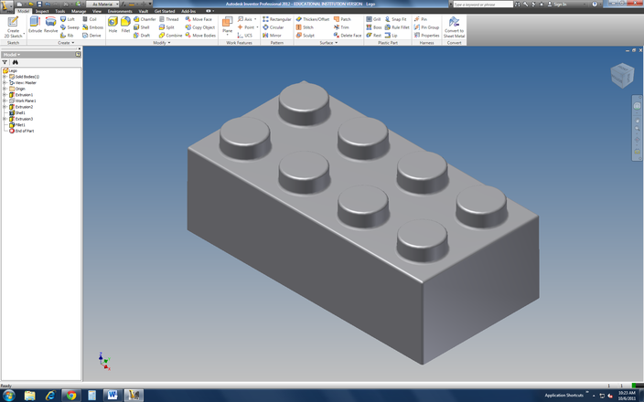 Lego block autodesk inventor stl 3d cad model grabcad Cad models