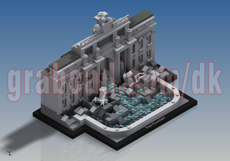 LEGO Architecture - Trevi Fountain (21020) | 3D CAD Model Library