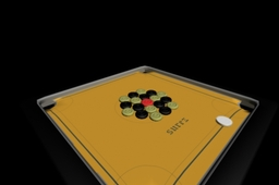 carom board model reactor simulation