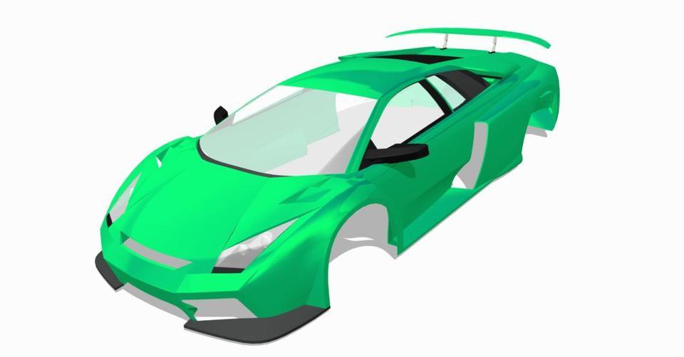 Lamborghini Murcielago | 3D CAD Model Library | GrabCAD