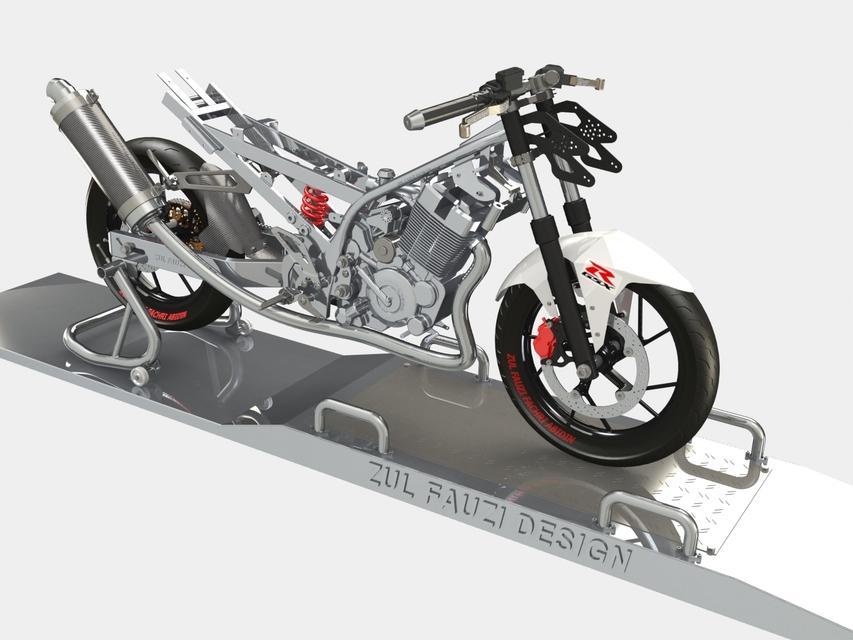 Raider 150 Matte Black >> Frame Set of Suzuki Raider/Satria 150 - SOLIDWORKS - 3D CAD model - GrabCAD