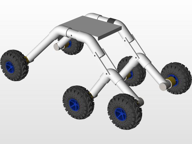 Rocker bogie mechanism | 3D CA...