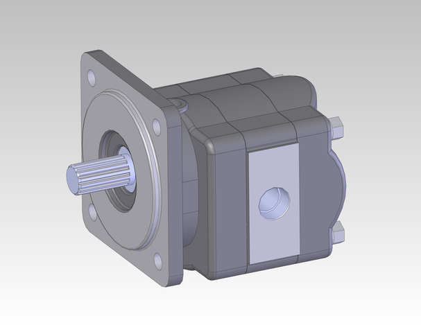 Hydraulic Motor Stl Step Iges Solidworks 3d Cad