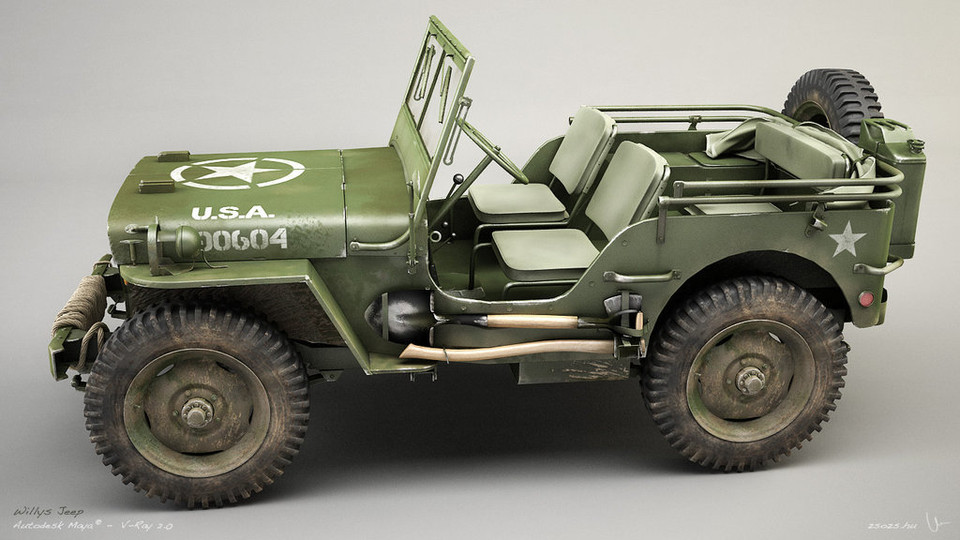 My First 3D Model (Willy's Jeep) | 3D CAD Model Library