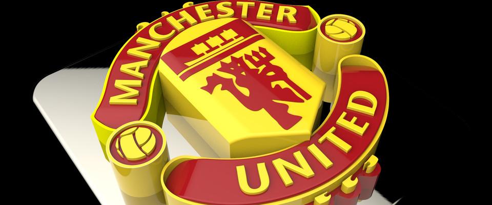 Manchester United Logo 3d Cad Model Library Grabcad