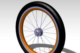 Bicycle wheel with tire