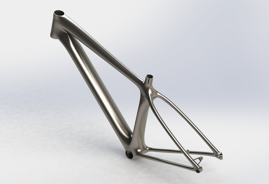 World First Metal 3d Printed Bicycle Frame Solidworks 3d Cad