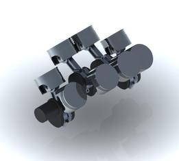V8 Engine Flat-plane Crankshaft