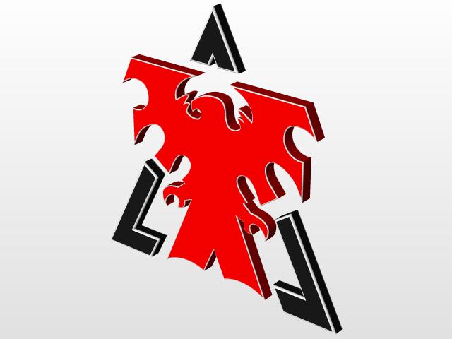 Starcraft 2 Terran 3D Logo | 3D CAD Model Library | GrabCAD
