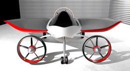 Leaf 3D flying car. NOT TF-X Terrafugia because I have no STEP/IGES :)