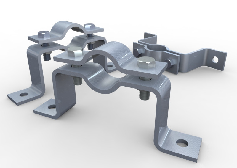 sc 1 st  GrabCAD & Offset Pipe Clamp   3D CAD Model Library   GrabCAD
