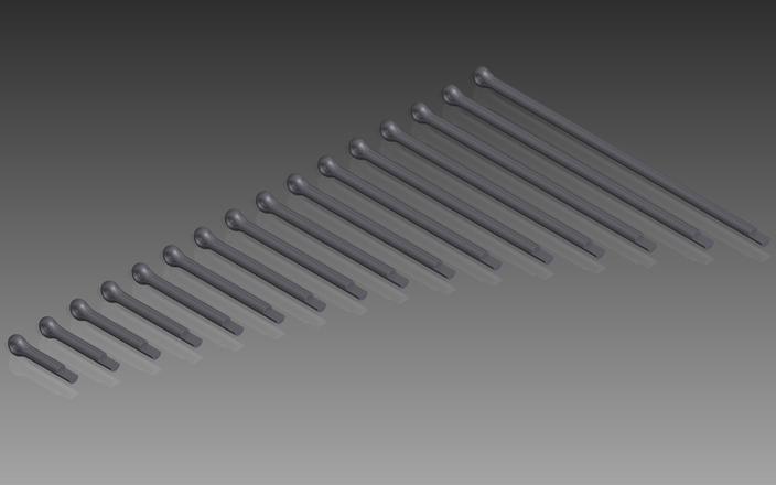 DIN 94 Split Pins (Cotter Pins). Nom. Diameter 2mm