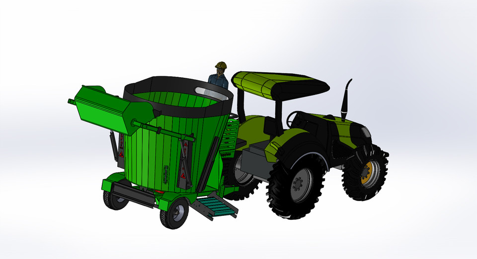 6+1 feed mixer wagon | 3D CAD Model Library | GrabCAD