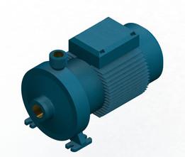 Calpeda Pump NMD 20140 AE, 3D CAD