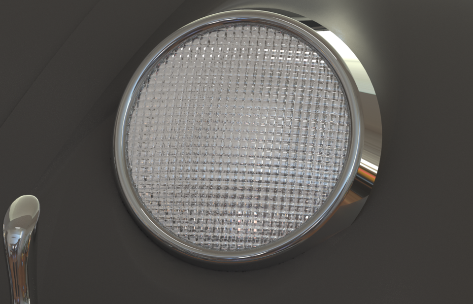 Headlight Glass With Material
