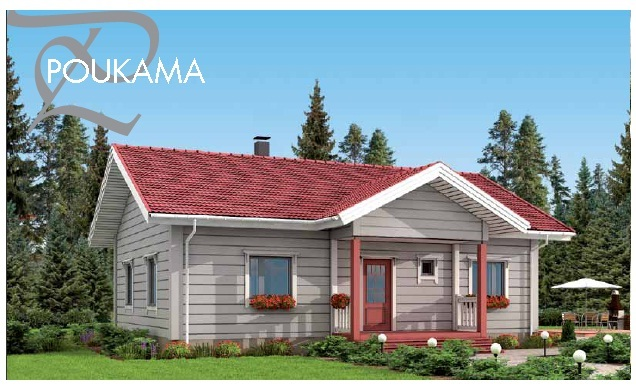 Small wooden Honka house - Poukama | 3D CAD Model Library | GrabCAD