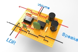 LDR Controlled Signal Generator and Amplifier