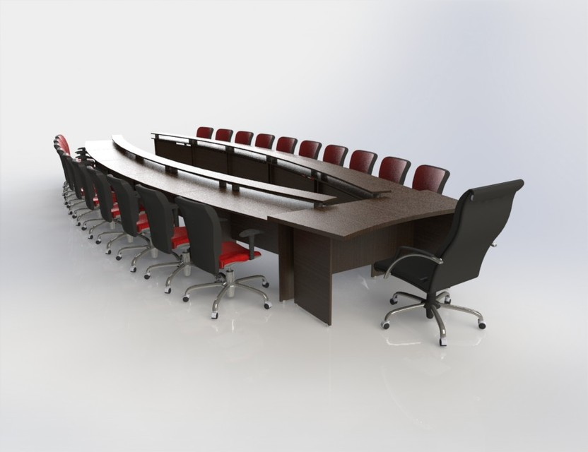 & conference table set | 3D CAD Model Library | GrabCAD