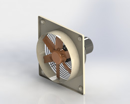 Wall-mounted axial fans