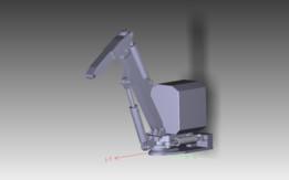 Hydrauliczny manipulator trójosiowy - Thre axial manipulator