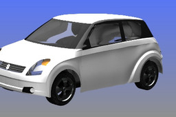 swift car done in Nxcad