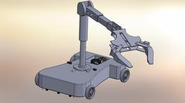 chariot de livraison avec pince robotique / delivery cart with robotic gripper