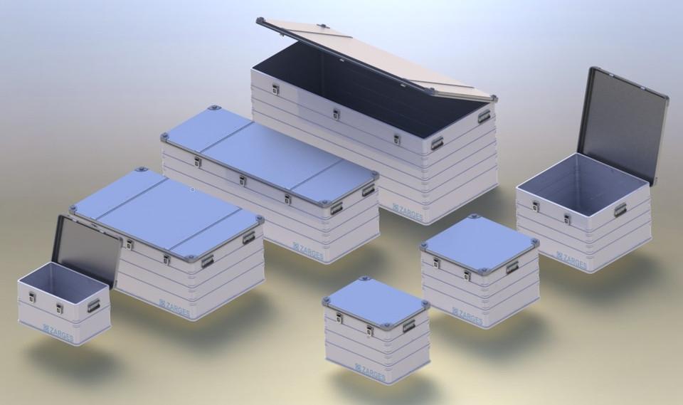 ZARGES K470 Aluminium case   3D CAD Model Library   GrabCAD