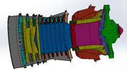 Core engine assembly for CFM56